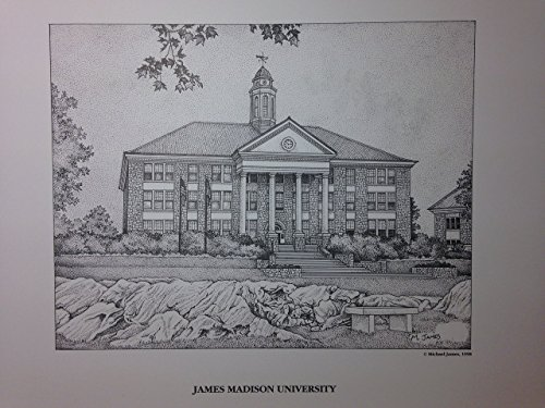 James Madison University 11x14 pen and ink print by Campus Scenes