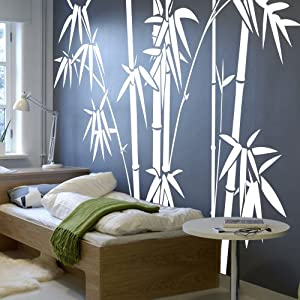 Amazon Com Vinyl Bamboo Wall Decal Bamboo Wall Quote Tree