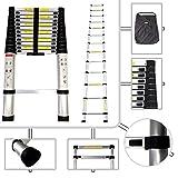 Keraiz 5m Telescopic Extendendable Extension Ladder EN131 MAX LOAD 150KG (5M)