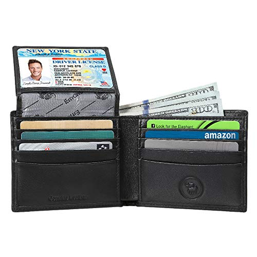 - Men's Genuine Leather Wallet - RFID Blocking Security Wallet by Emanuel