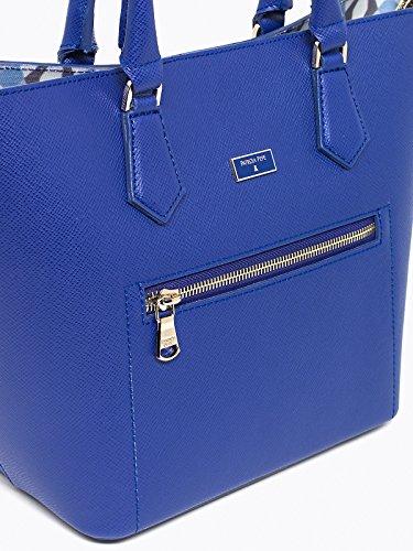 Patrizia Pepe Candy Cadillac Handtasche Leder 22 cm Modern Blue