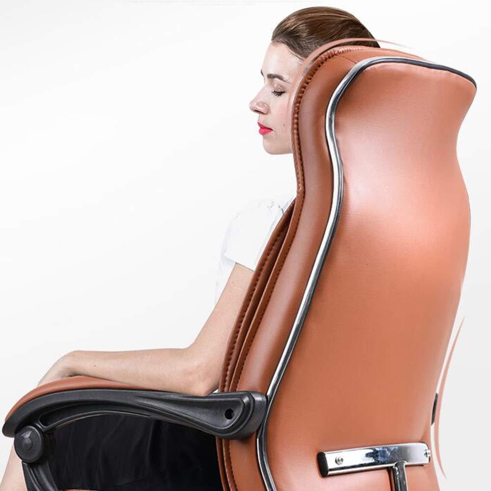 WYY HPLL kontorsstol PU datorstol – 95° –135 ° uppspänd med fotpedal hem kontor stol lyft svängbar stol svängbar stol (färg: svart) Brun