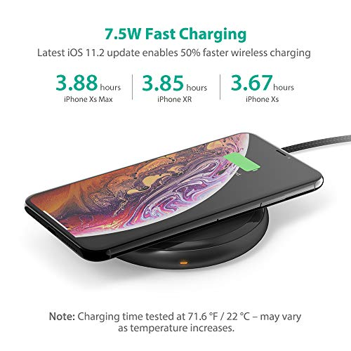 Fast Wireless Charger RAVPower 7.5W Compatible iPhone Xs MAX/XR/XS/X/8/8 Plus, with HyperAir, 10W Compatible Galaxy S9, S9+, S8, S7 & Note 8 and All Qi-enabled Devices (QC 3.0 Adapter Included) by RAVPower (Image #3)