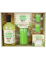 Modern Gourmet Foods, Skinny Margarita Set, Includes Margarita Mix, Margarita Salt, Cactus Cocktail Shaker, and 2 Cactus Shot Glasses (Contains NO Alcohol)