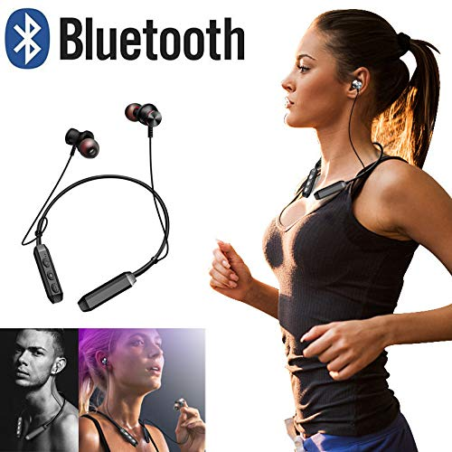 Lljin Headphones Wireless Sports Earphones Neckband Headset with Mic (Ship from US)