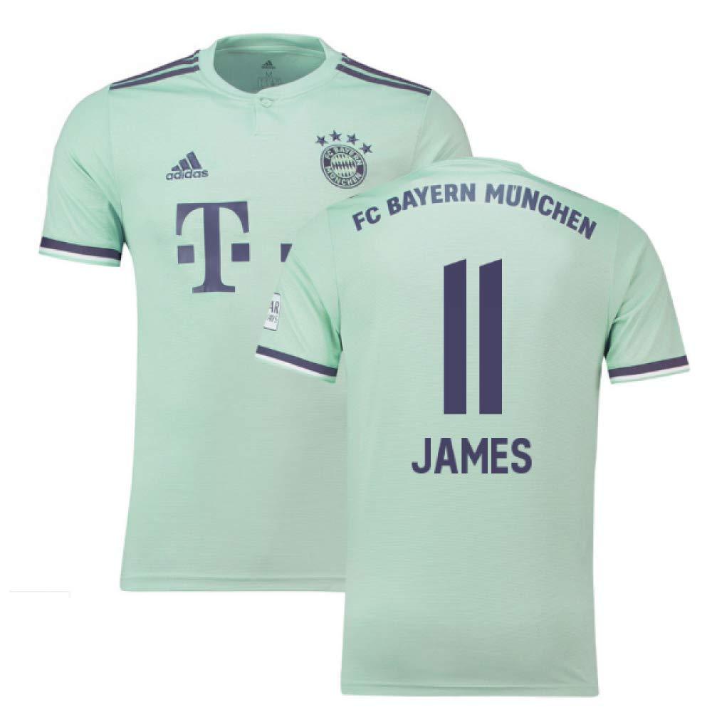 2018-19 Bayern Munich Away Football Soccer T-Shirt Trikot (James Rodriquez 11)