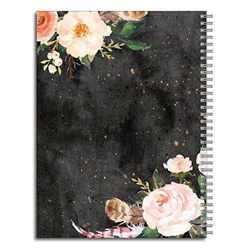 She Will Not Fall Personalized Religious Spiral Notebook/Journal, 120 College Ruled or Checklist Pages, durable laminated cover, and wire-o spiral. 8.5x11 | 5.5x8.5 | Made in the USA Photo #2