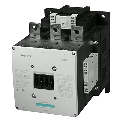 Siemens 3RT1076-2AP36 CONTACTOR, 250KW/400V/AC-3 AC(50...60HZ)/DC OPERATION UC 220-240V AUXILIARY CONTACTS 2NO+2NC 3-POLE, SIZE S12 BAR CONNECTIONS CONVENT. OPERATING MECHANISM CAGE CLAMP TERMINAL