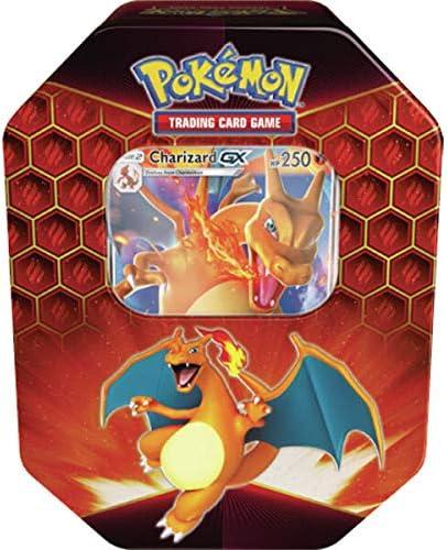 Lively Moments Pokemon Karten Tin Box Sun&Moon Hidden Fates Charizard-GX EN Englisch Trading Card Game / Glurak Metallbox