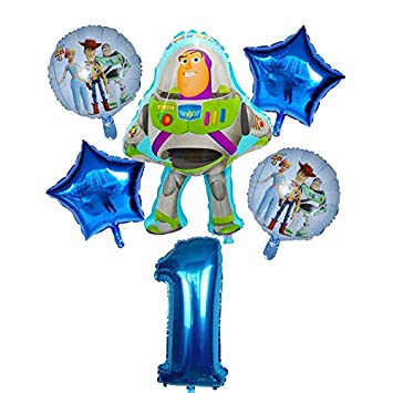 BAYUE 6pcs / Set Buzz Lightyear Globos de la Historieta de ...