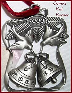 Amazon.com : Avon Pewter Holiday Ornament 1999 Season of ...