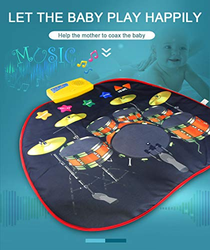 Electronic Musical Jazz Drum Mat Music Blanket Carpet Educational Toy Amazing Gifts for Boys & Girls and Baby Kids 72x62cmM by Mefashion (Image #1)