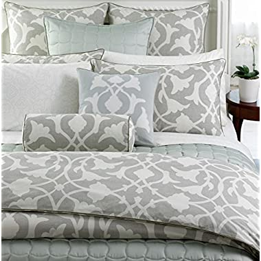 Barbara Barry Bedding, POETICAL King Duvet Cover, Poetical Silver