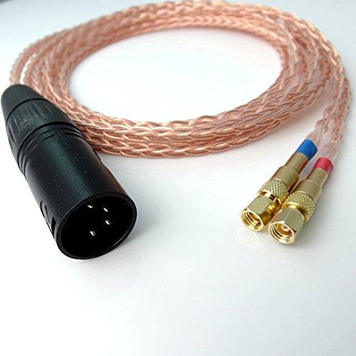 4-pin Balanced 1.8m (6ft) DIY Hi-end Litz Braid 8 Cores 5n Pcocc Headphone Upgrade Cable for Hifiman He-5 He-6 He-400 He-500 He560 Headphone