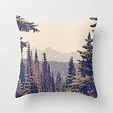 My Honey Pillow Mountains Through The Trees Throw Pillow By Kurt Rahnfor Your Home