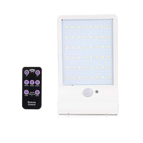 T-SUN 48 LED Lámparas Solares de Movimiento, 7 Temperaturas de Color Ajustables con