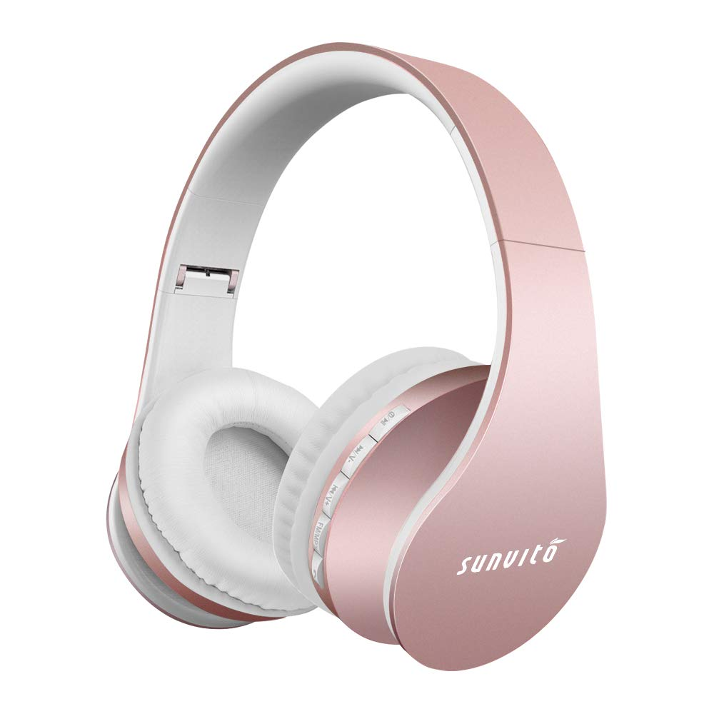 Bluetooth Headphones Over Ear,barsone Stereo Headphones with Microphone Wired and Wireless Headphones Foldable Headset Support FM TF Card Slot for Cell Phones PC