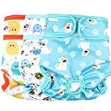 #9: Wegreeco Luxury Washable Reusable Dog Diapers (New Pattern) - Durable Female Dog Diapers, Stylish Doggie Diapers, 3 PACK ( Inspiring, Large)