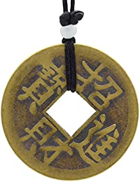 Old Chinese ZHAOCAIJINBAO Trigrams Feng Shui Bronze Coin Pendant 42mm- Brings For Good Luck Rich
