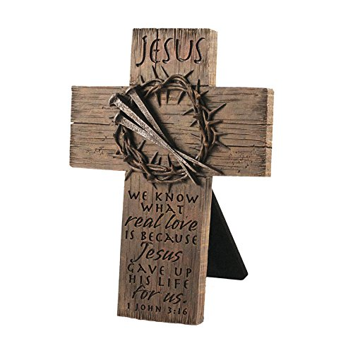 Lighthouse Christian Products Small Crown of Thorns Sculpture Desktop Cross, 4 3/4 x 6 1/2""