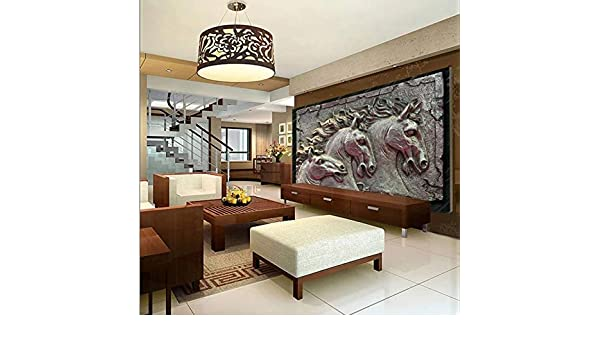 Amazon.com : XDRZSE 3D Wallpaper Embossed Horse Photo Wall ...