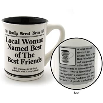 our name is mud best friend stoneware mug 16 oz - Christmas Gifts For Best Friend Female