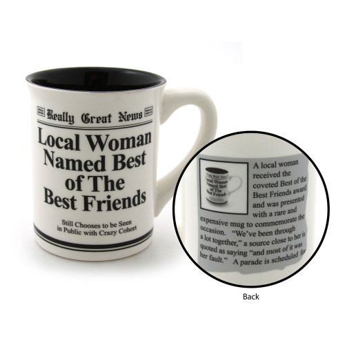 Our Name is Mud Best Friends Stoneware Mug, 16 (Our Name Mud Gifts)