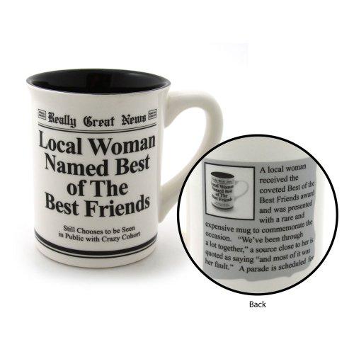 Enesco 4032430 Best Friends Mug, 4.5