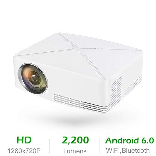 MXQH Proyector, proyector de vídeo LED, 2200 Lumen proyector de ...
