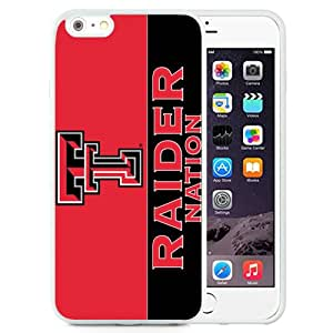 Fashion And Unique iPhone 6 Plus Cover Case NCAA Big 12 Conference Big12 Football Texas Tech Red Raiders 1 Protective Cell Phone Hardshell Cover Case For iPhone 6 Plus 5.5 Inch White Phone Case