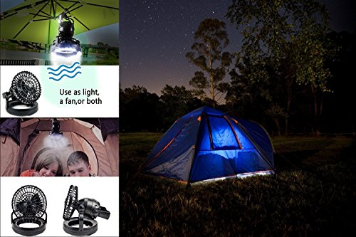 HAITRAL 2-in-1 LED Tent Light Fan Portable Camping Lantern Ceiling Fan by HAITRAL (Image #7)