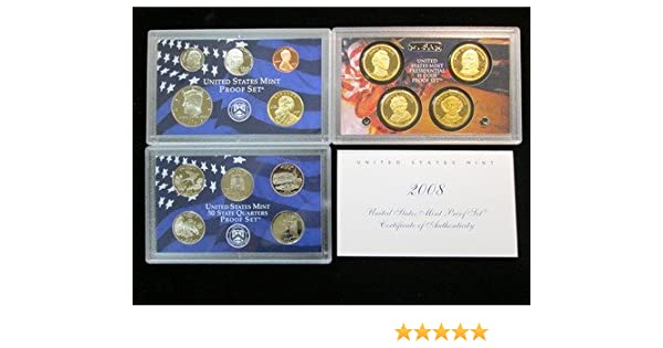 United States Mint 2008 S  Birth Year Clad Proof DCAM Set