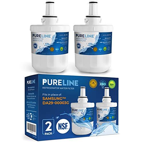 Samsung DA29-00003G & Aqua Pure Plus Water Filter. Compatible Samsung Models: DA29-00003G, Aqua-Pure Plus, DA29-00003B, DA29-00003F, RSG257AARS, & HAFCU1--PURELINE (2 Pack)