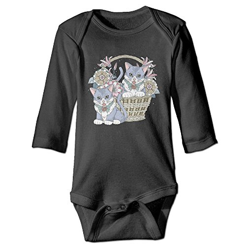 Flowers Cat Baby Boy Girls Rompers Jumpsuit Outfit Long Sleeve Creepers Bodysuit Clothes Newborn Baby Clothing - Boys Pakistani Picture
