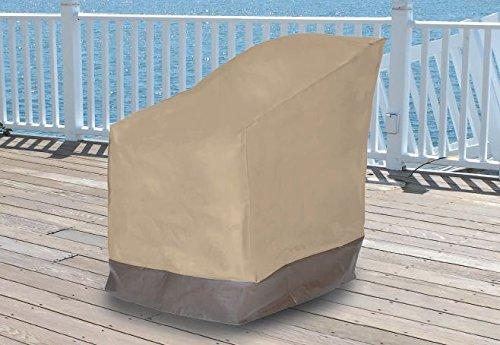 Dobar Heavy Duty Waterproof Vinyl Patio Chair Cover Furniture Outdoor Furnitu