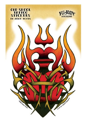 Sacred Heart Sticker (Adam Potts - Tribal Sacred Heart - Sticker /)
