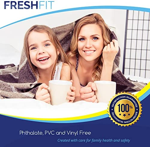 home, kitchen, bedding, mattress protectors, encasements,  mattress protectors 8 image FRESHFIT Waterproof Mattress Protector. Comfortable Hypoallergenic Protection- Vinyl in USA