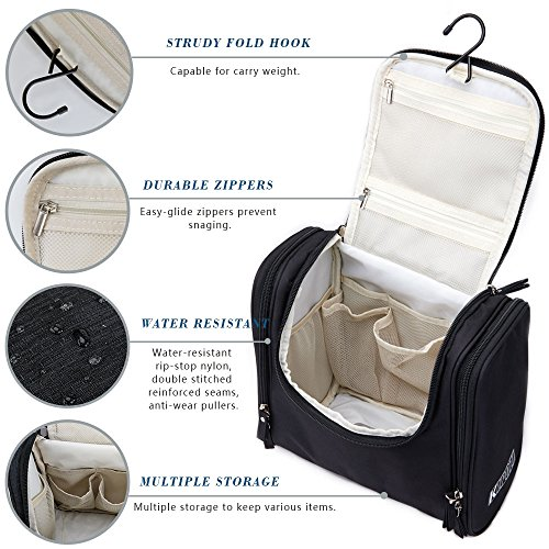 f89cd08a21a KIPOZI Hanging Toiletry Bag for Women or Men Travel Accessories, Large  Capacity Toiletry Kit Water