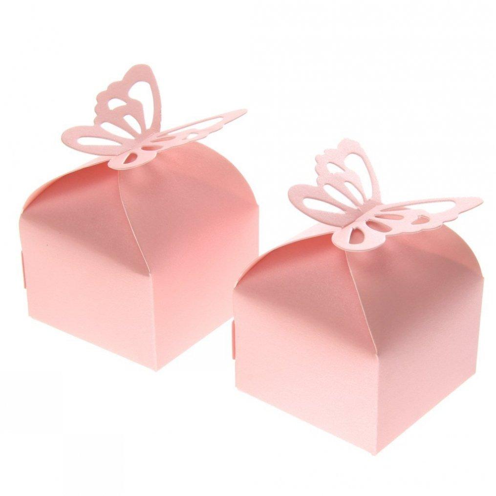 Amazon.com: Fvstar 50pcs Candy Boxes Love Rustic Kraft Bonbonniere ...
