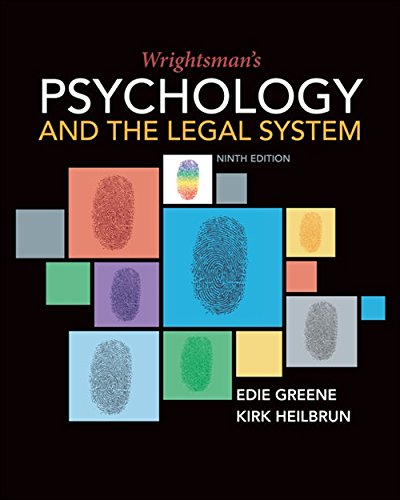 Wrightsman's Psychology and the Legal System (MindTap Course List) -