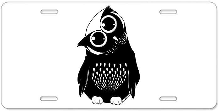 I LOVE OWLS OWL ANIMAL License Plate Frame Stainless Metal Tag Holder