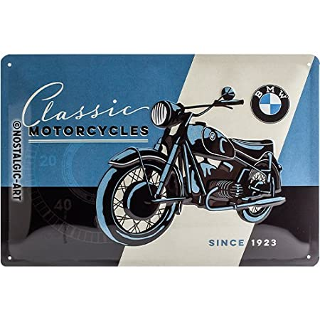 Nostalgic-Art 40361132223 Cartello BMW - Classic, Acciaio,, 30 x 20 x 0.2 cm Nostalgic Art 22233