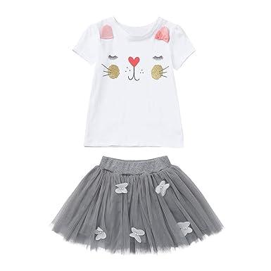 Ropa Conjuntos de Lunares para bebé niña, Tops y Falda Camiseta ...