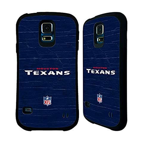 Official NFL Distressed Houston Texans Logo Hybrid Case for Samsung Galaxy S5 / S5 Neo (Houston Texans Samsung S5 Case)