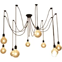 10 Heads Antique Industrial Ceiling Pendant Lighting Industrial Dining Home DIY Spider Chandelier Pendant Lamp Light…