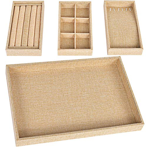 Viefin Sackcloth Stackable Jewelry Tray, Earring Drawer, used for sale  Delivered anywhere in USA