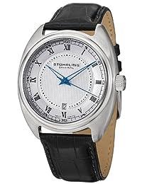 Stuhrling Original Men's 728.01 Symphony Aristocrat Twenty Swiss Quartz Date Silver Dial Watch