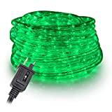 WYZworks 100 feet 1/2' Thick Green Pre-Assembled LED Rope Lights with 10', 25', 50', 150' Option - Christmas Holiday Decoration Lighting | UL Certified