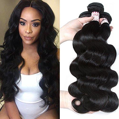 Grace Plus Hair Brazilian Virgin Hair Body Wave Remy Human Hair bundles 3pcs lot 100% Unprocessed Virgin Human Hair Extensions Natural Wave No Tangel No Shedding (12 14 ()