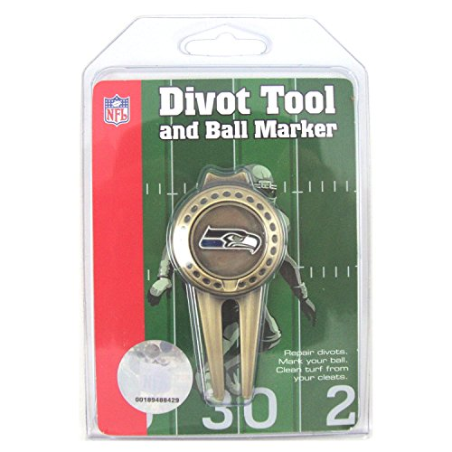 Seattle Seahawks Golf Divot Tool with Golf Ball Marker by McArthur